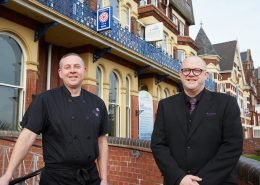 Nigel Carter (L) and Scott Barnes (R) have worked together at The Palm Court Hotel and Marine Lodge in Great Yarmouth for a combined total of 55 years.